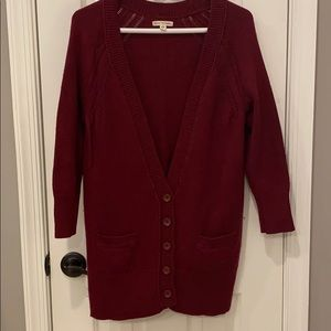 Beautiful reddish burgundy cardigan